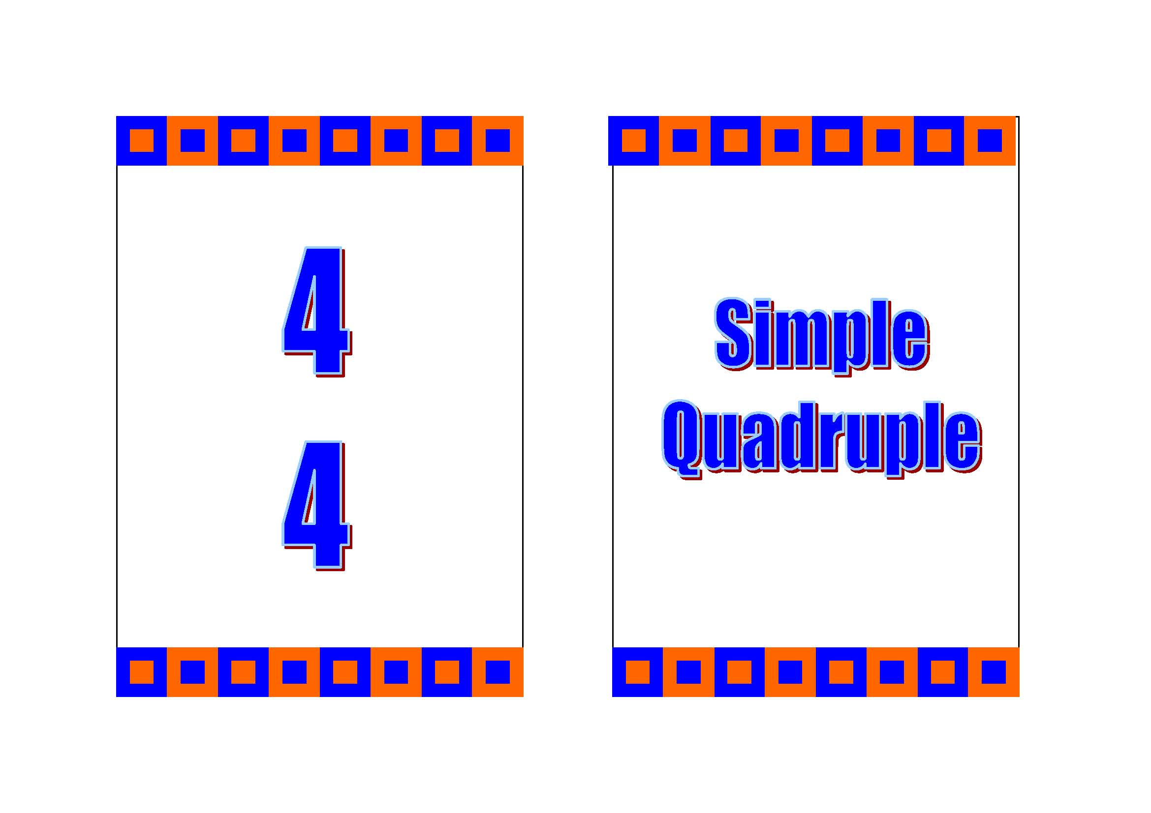 Time Signature Clipart Time Signature/meter Card Game