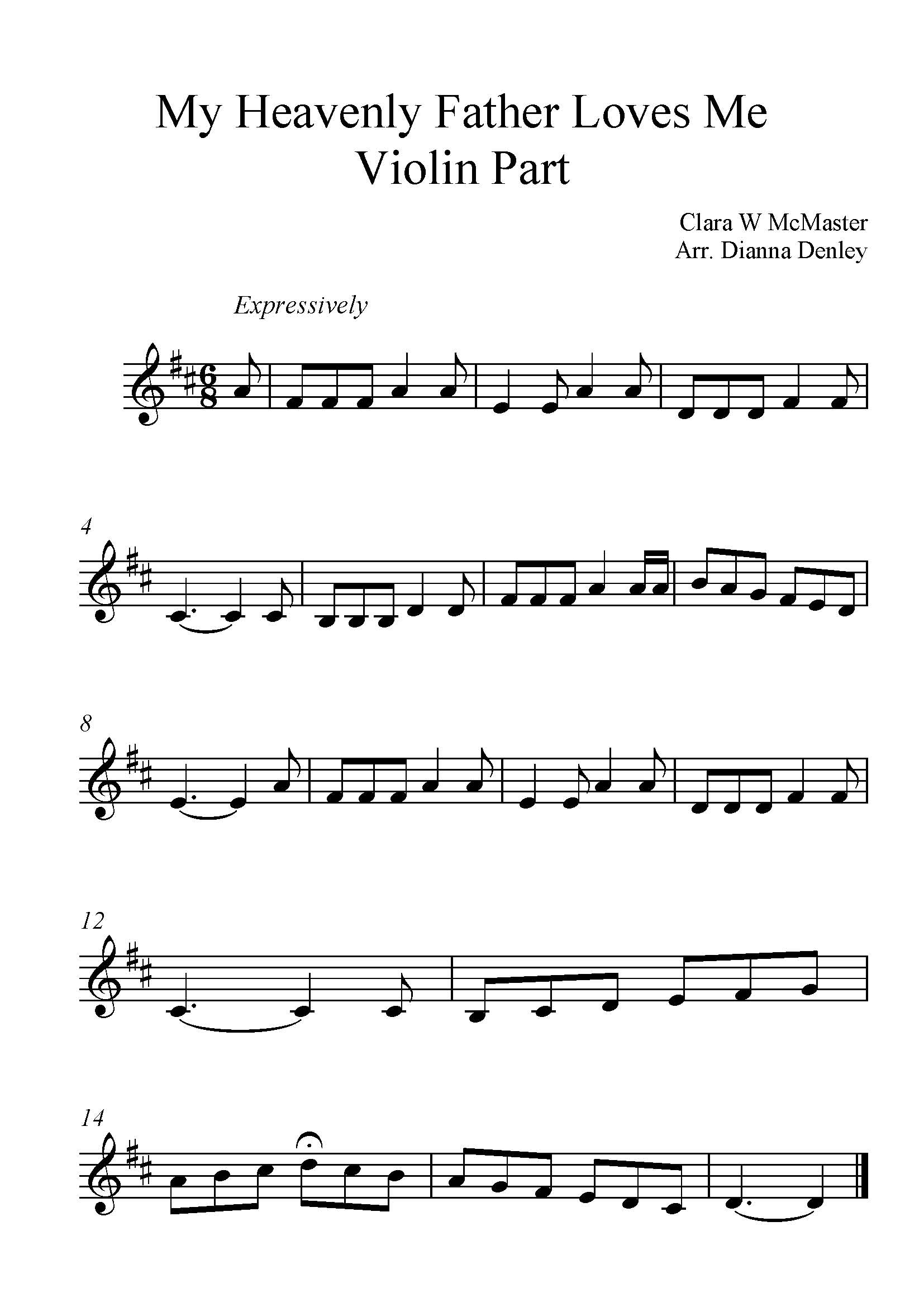Coloring pages fun my melody coloring pages - My Heavenly Father Loves Me For Violin With Piano