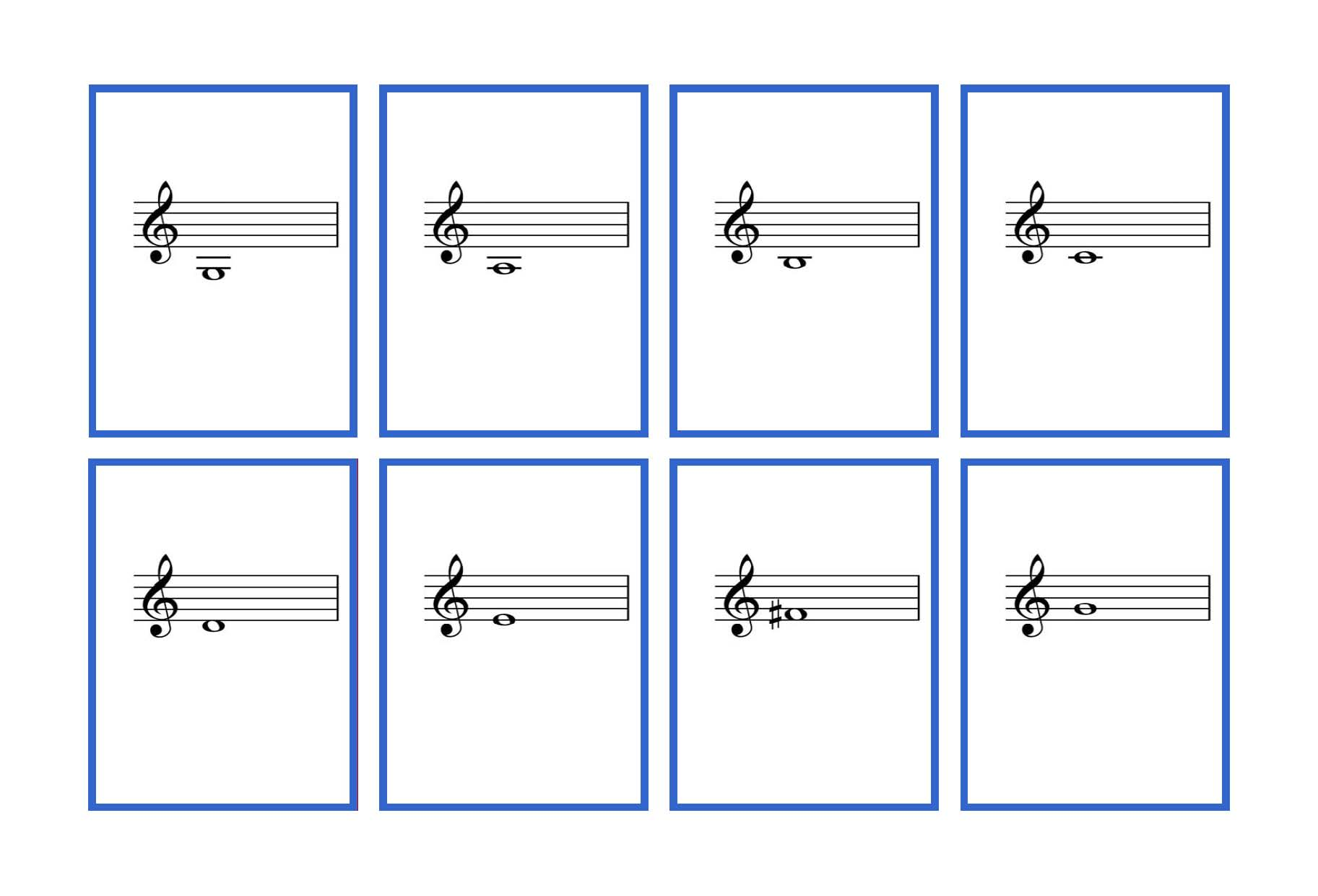 Complete Set Violin Flash Cards Printable Denley Music Musical Note Card