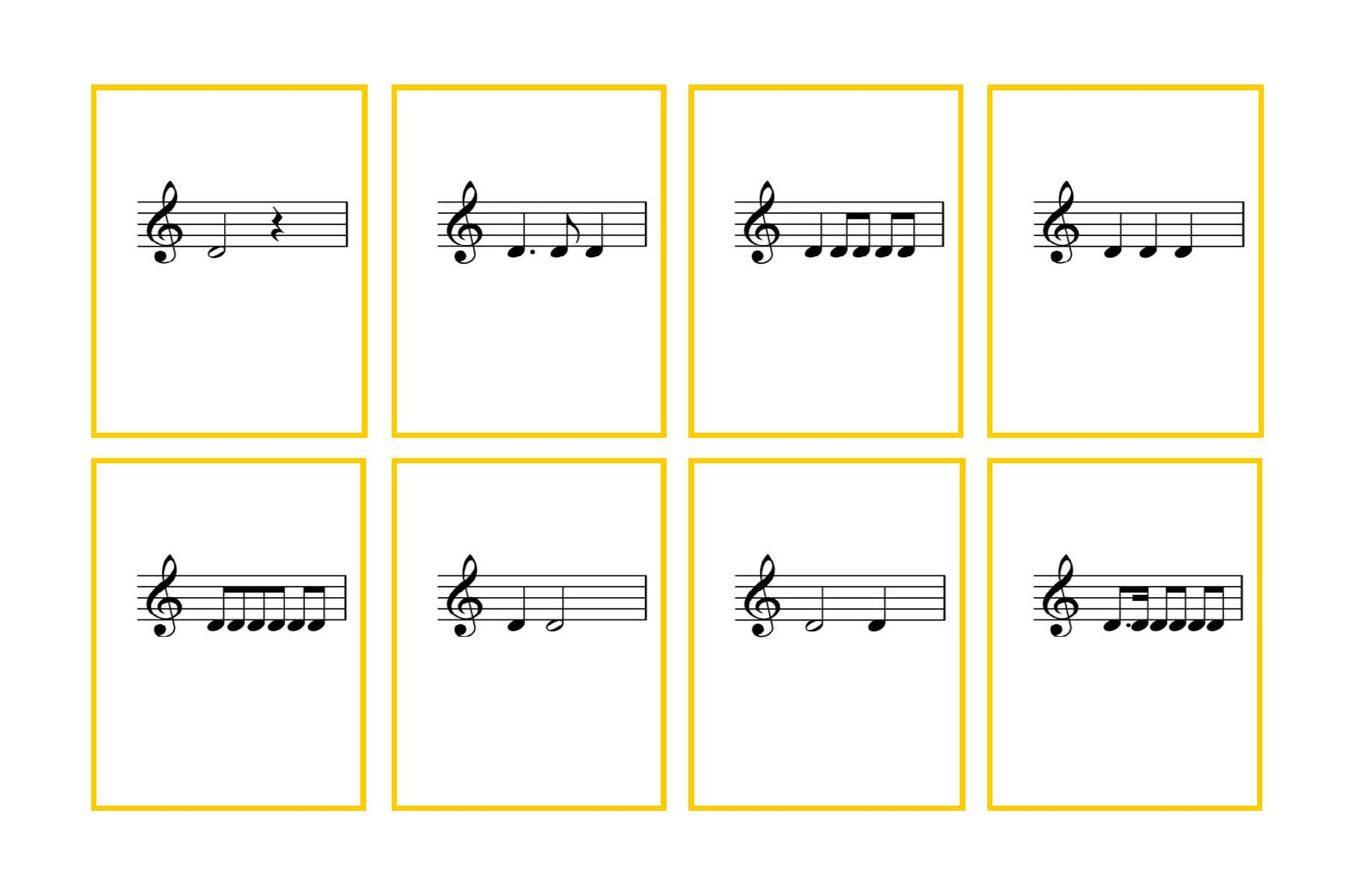 photograph relating to Printable Music Flashcards named Fourth Quality Aural Rhythms Flash Playing cards Denley Audio