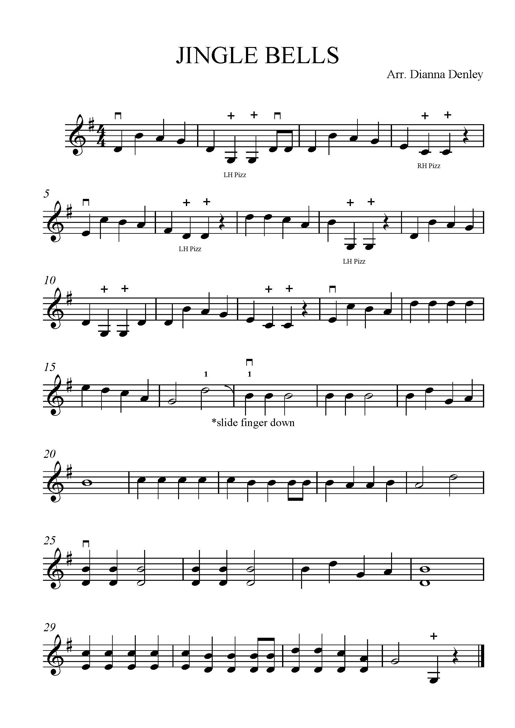 Jingle Bells Solo Violin | Denley Music