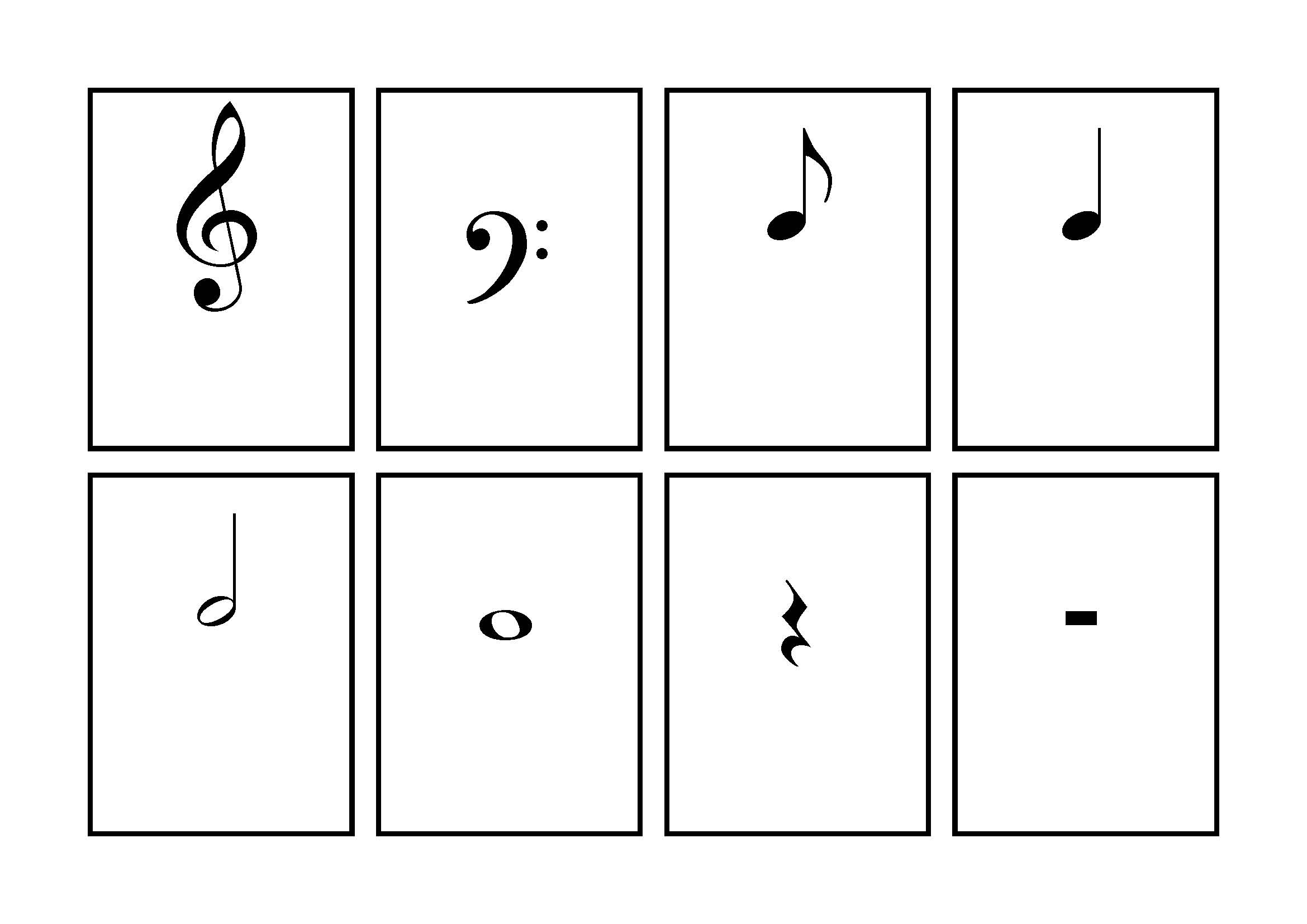 It is an image of Lively Music Note Flashcards Printable